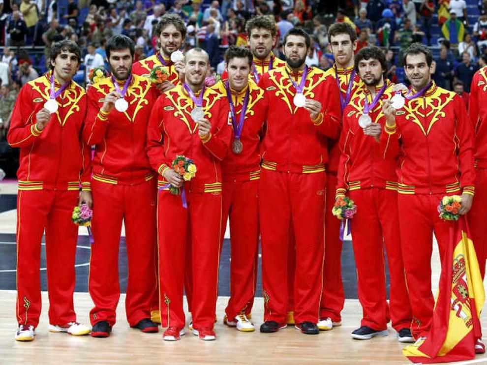 La selección española, plata en Londres