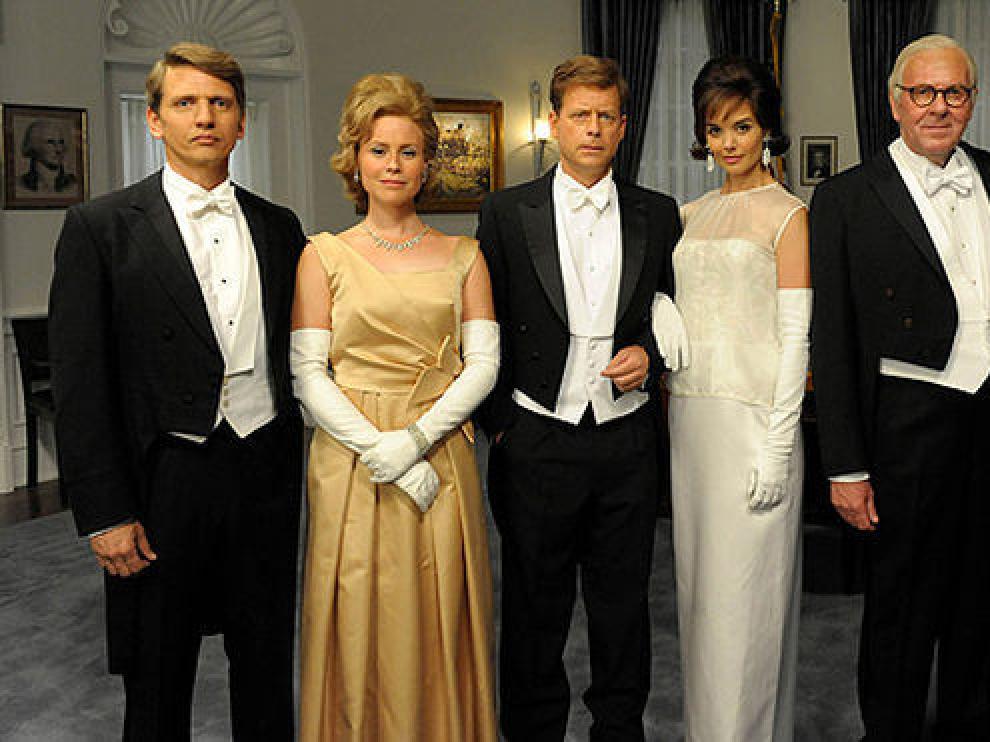 La familia Kennedy en la serie de televisión.