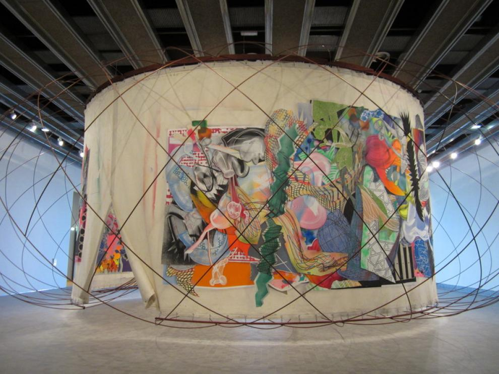 El mural de Stella y Calatrava, en el Museo Pablo Serrano.