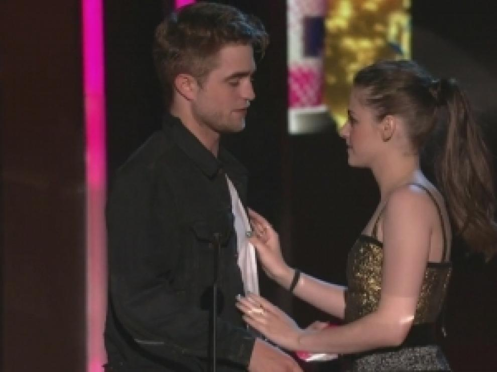 Robert junto a su ex novia, Kristen