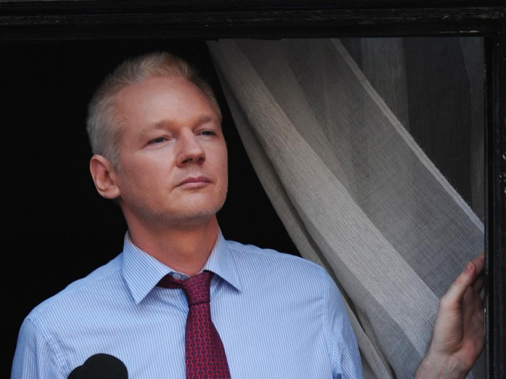 Assange, durante sus declaraciones del pasado domingo.