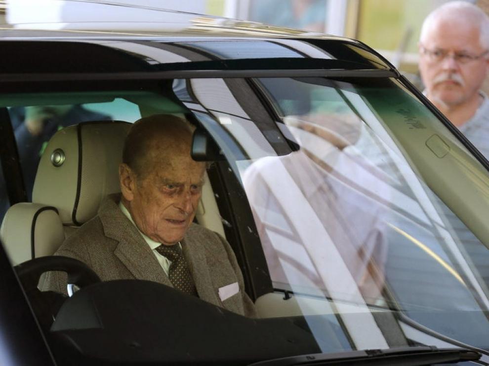 El duque, a su salida del hospital