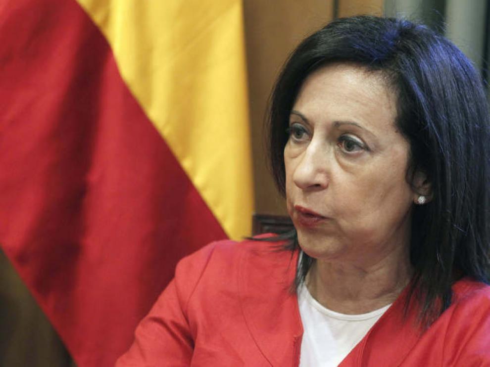 """Margarita Robles, una de las diputadas que votó """"no"""" a Rajoy."""