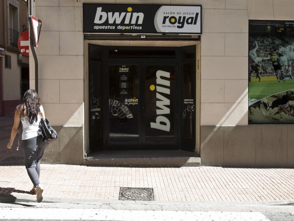 Una casa de apuestas en Zaragoza.