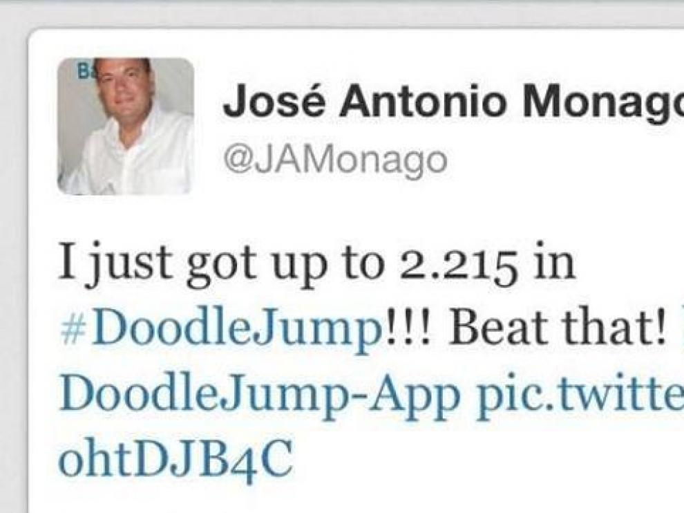 Cuenta de Monago antes de ser cancelada