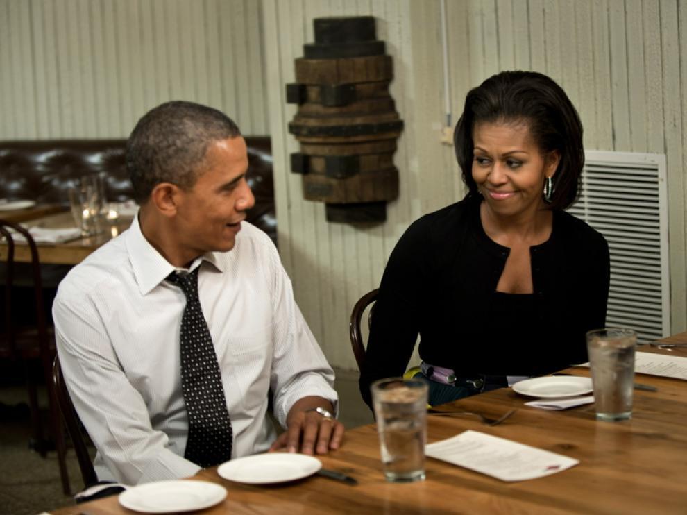 El matrimonio Obama en una foto de archivo.