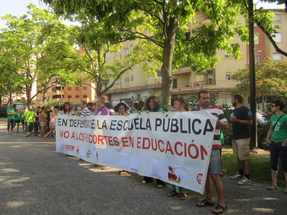 Nueva protesta contra los recortes en educación