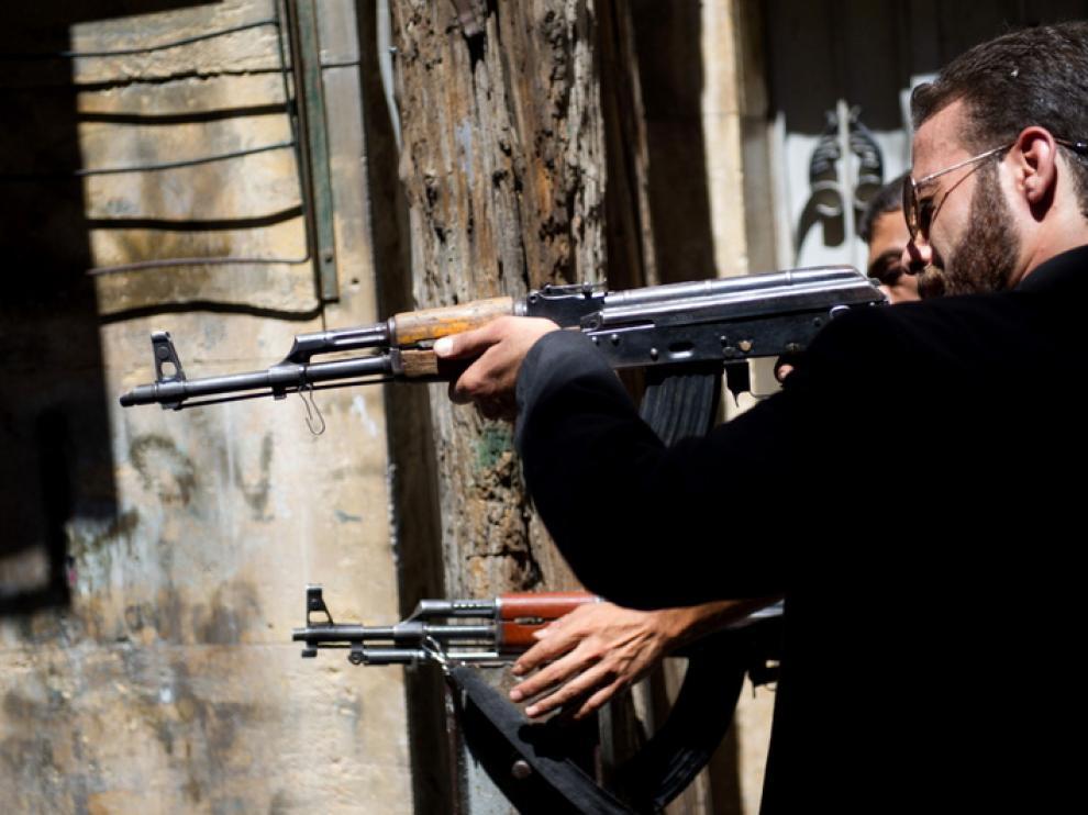 Miembros del Ejército de Liberación Sirio