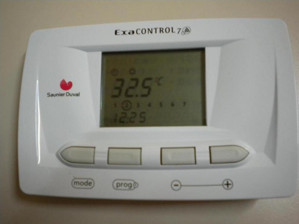 Temperatura registrada por un termostato del Centro Cívico Tío Jorge este martes.