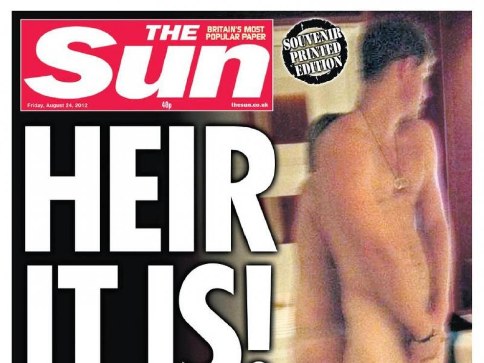 Portada del tabloide británico 'The Sun'.