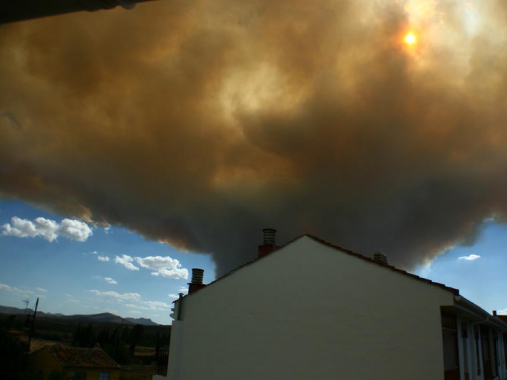 Incendio en Calcena