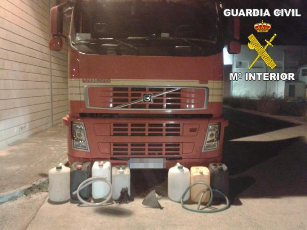 Materiales incautados por la Guardia Civil