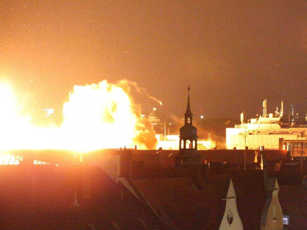 Deflagración controlada del artefacto