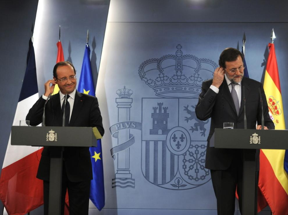 Mariano Rajoy y François Hollande se han reunido en Moncloa.
