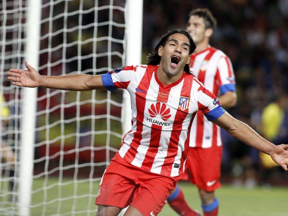 El delantero colombiano del Atlético de Madrid, Radamel Falcao