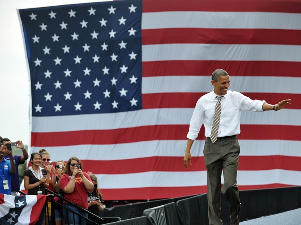 Obama en Iowa, que según las encuestas es el estado más indeciso