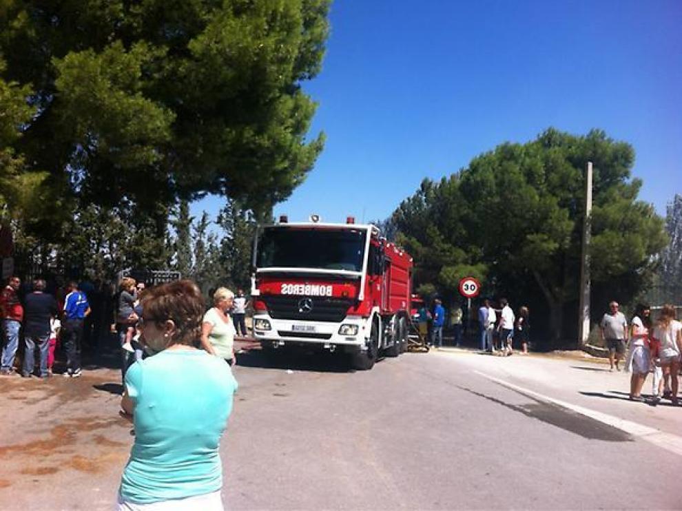 Hasta el lugar se han transladado los bomberos