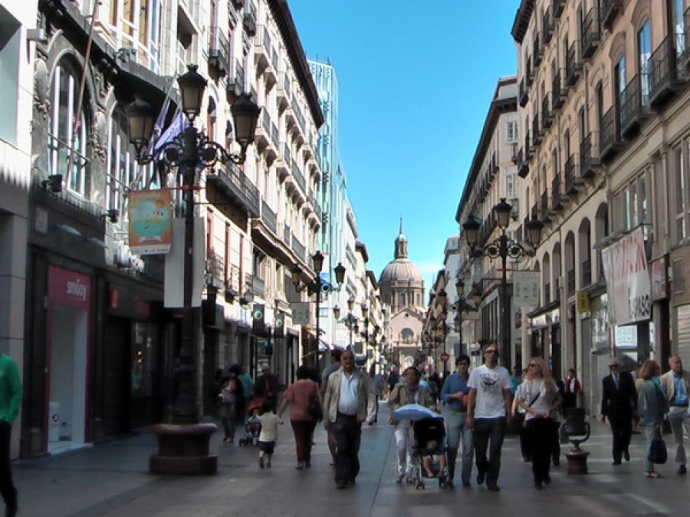 La calle de Alfonso I en Zaragoza