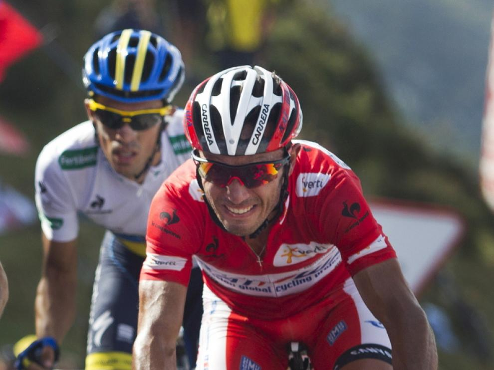 Purito Rodríguez, con Contador