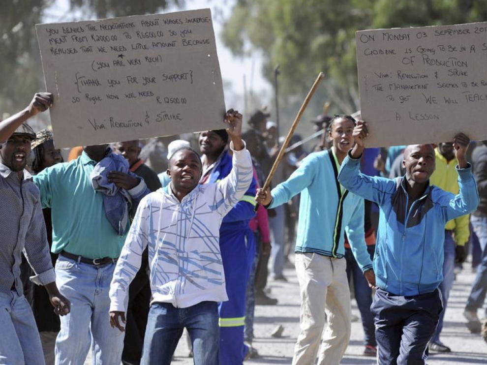 Los mineros declaraban sus derechos