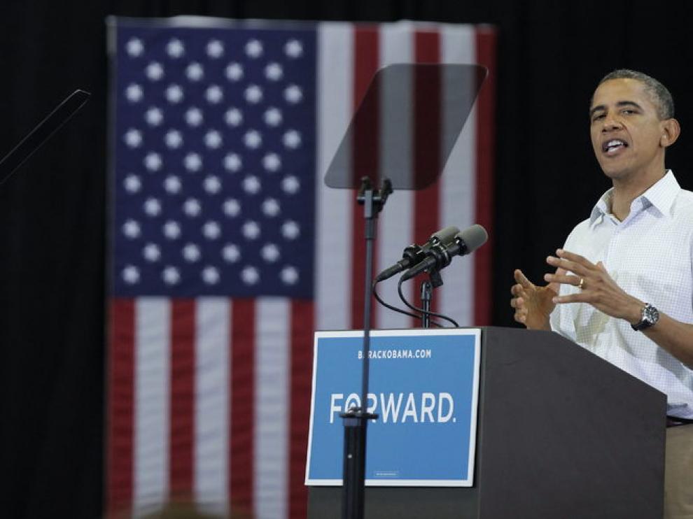 El presidente estadounidense ha continuado con la campaña en Ohio este lunes.