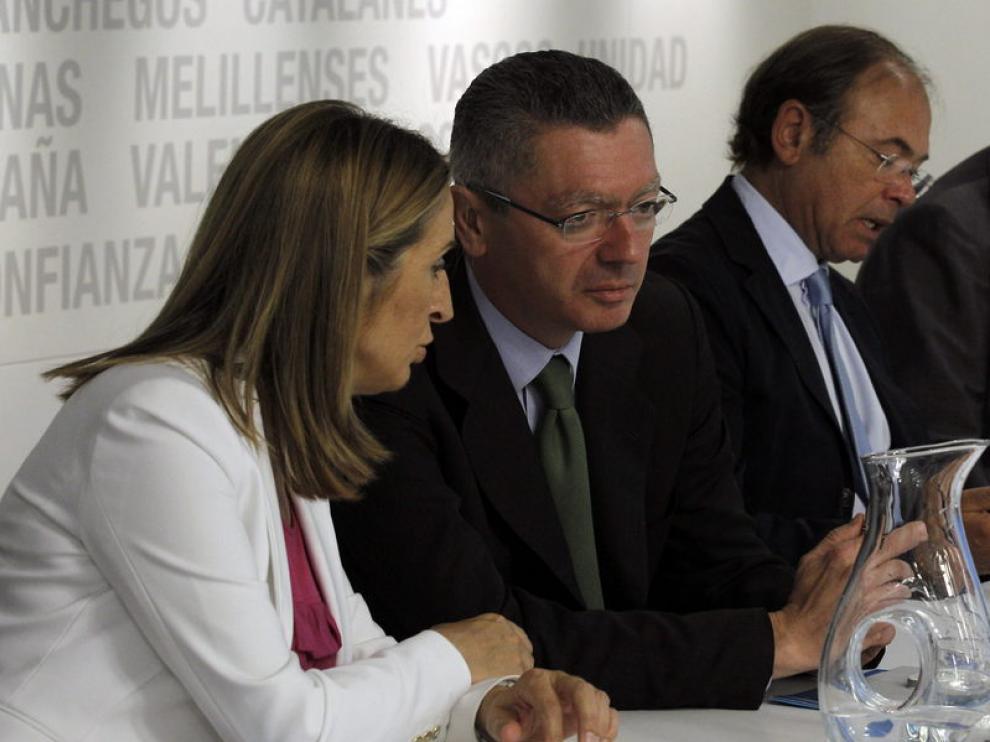 Gallardón en la reunión del Comité Nacional Ejecutivo del PP