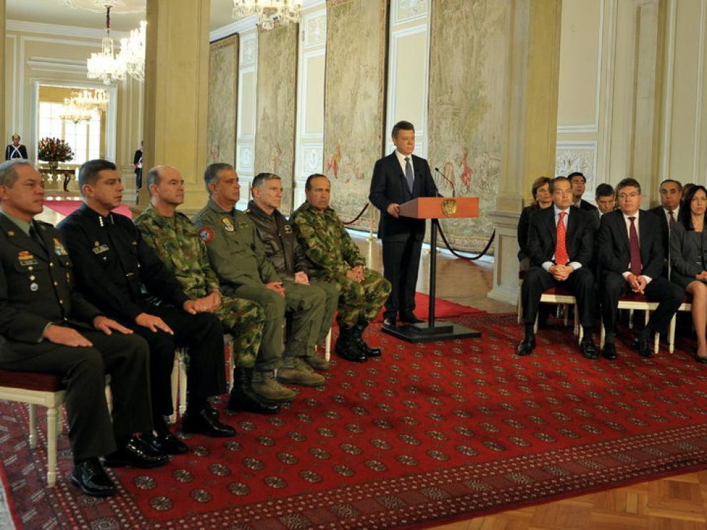Anuncio del presidente Juan Manuel Santos