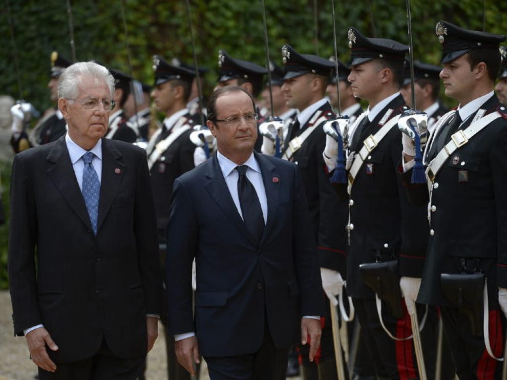 El primer ministro italiano se ha reunido en Roma con el presidente francés