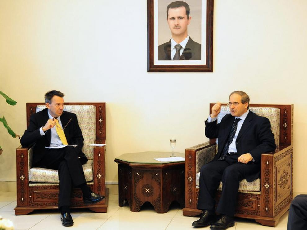 Maurer se ha reunido también con el viceministro de Exteriores sirio