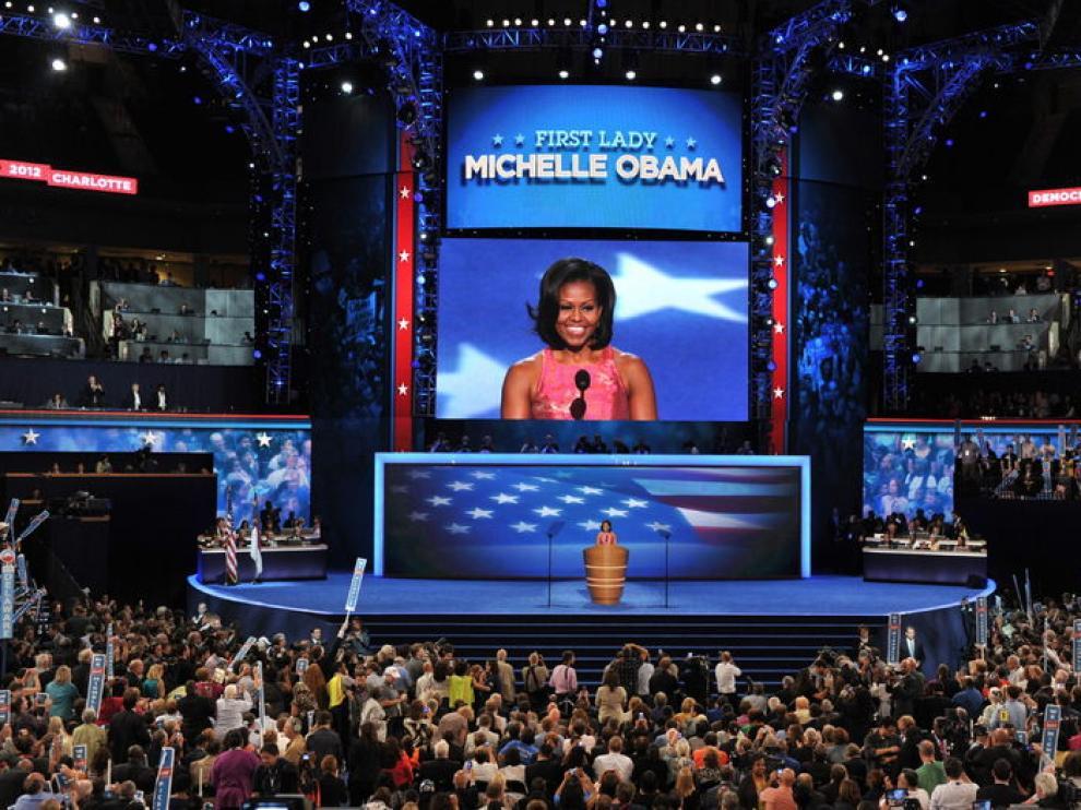 Michelle Obama pronuncia el discurso de apertura