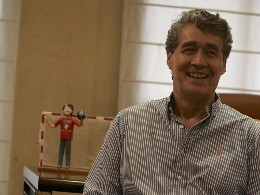Pachi Giné, presidente del BM Huesca