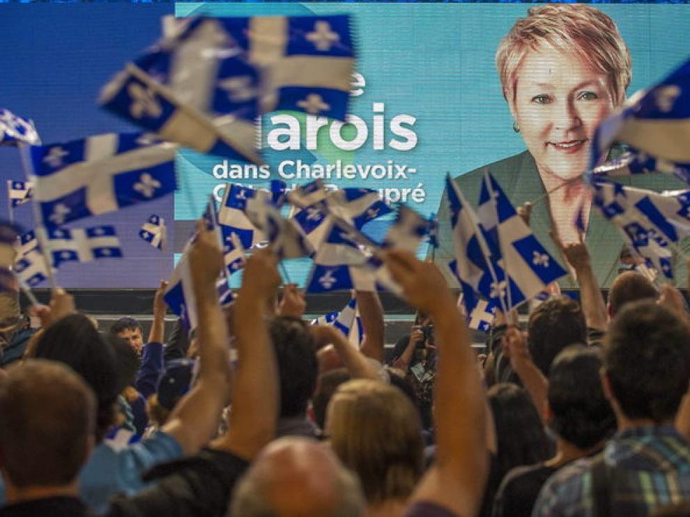 Los votantes celebran la victoria de Pauline Morais en Québec