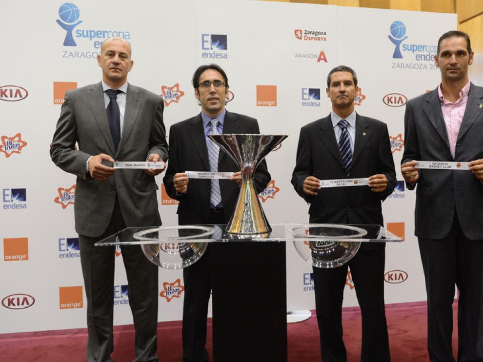 Representantes de los cuatro equipos de ACB presentes en la Supercopa