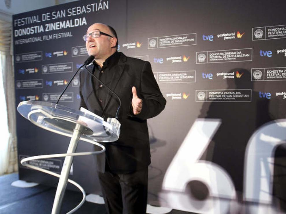 El director del Festival, José Luis Rebordinos, en la presentación del certamen