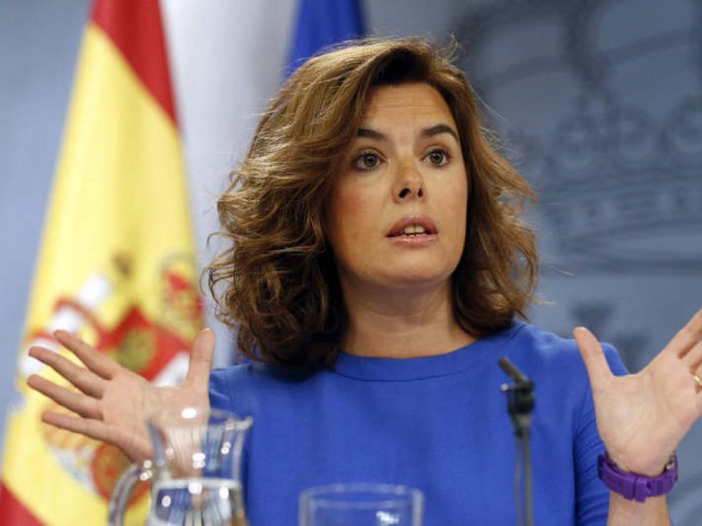 La vicepresidenta del Gobierno tras el Consejo de Ministros