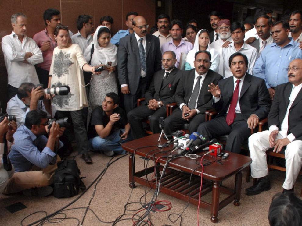 Rueda de prensa tras el anuncio de excarcelación de la niña