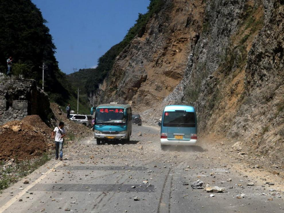 El seísmo se ha producido en una zona montañosa de China