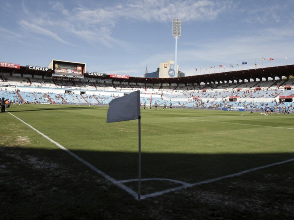 Vista del estadio de La Romareda