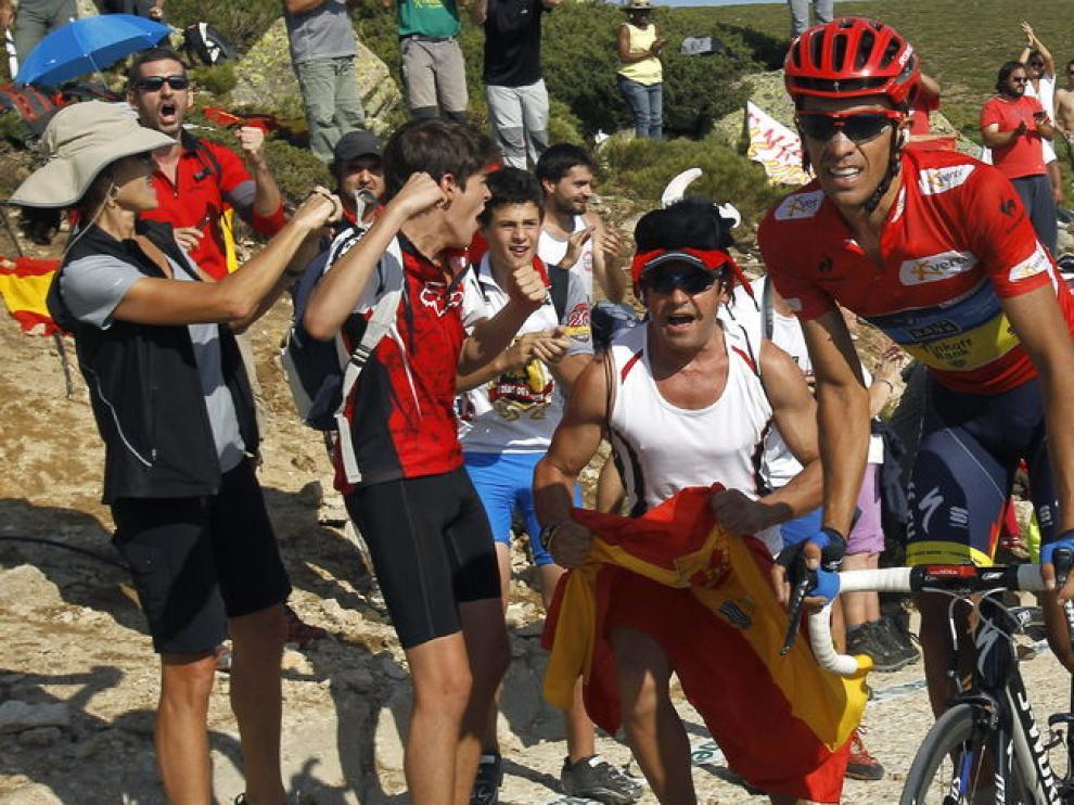 Subida de Contador a pocos metros de la meta
