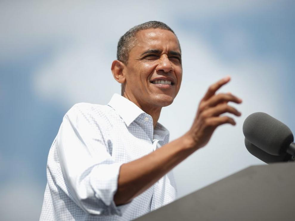 El presidente de EE. UU. y candidato demócrata a la casa Blanca, Barack Obama