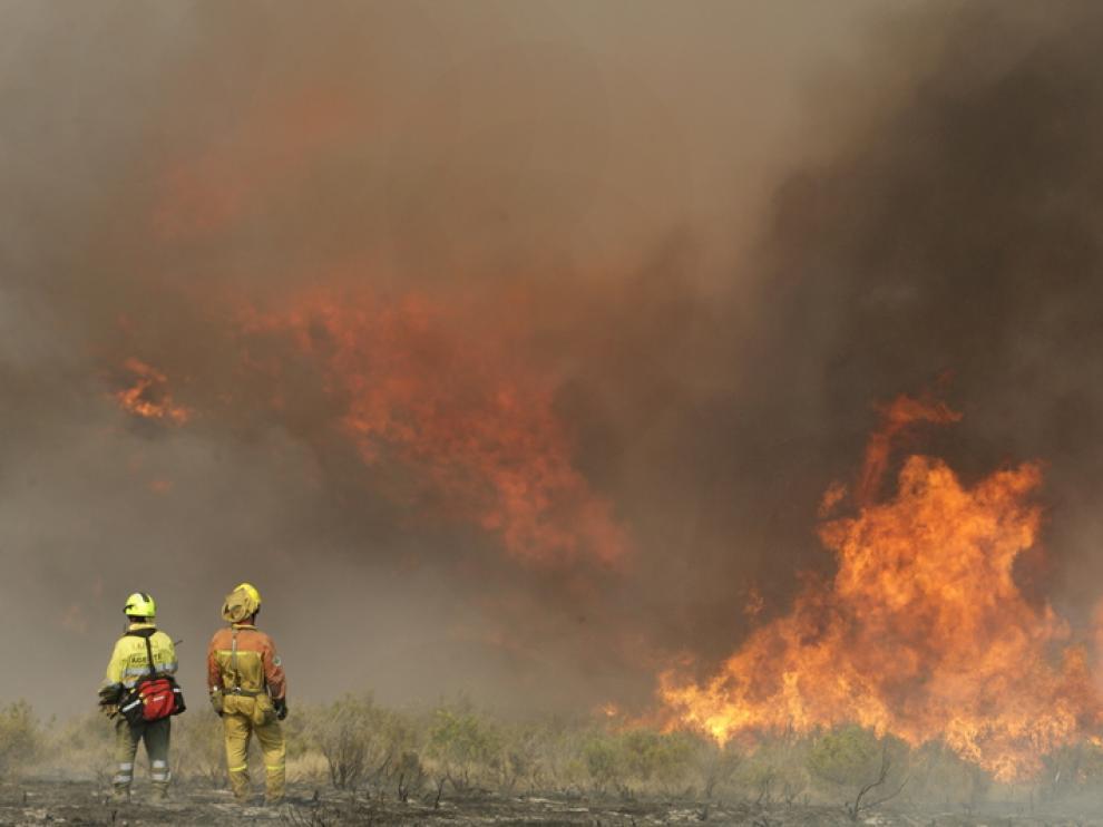 Una imagen del incendio