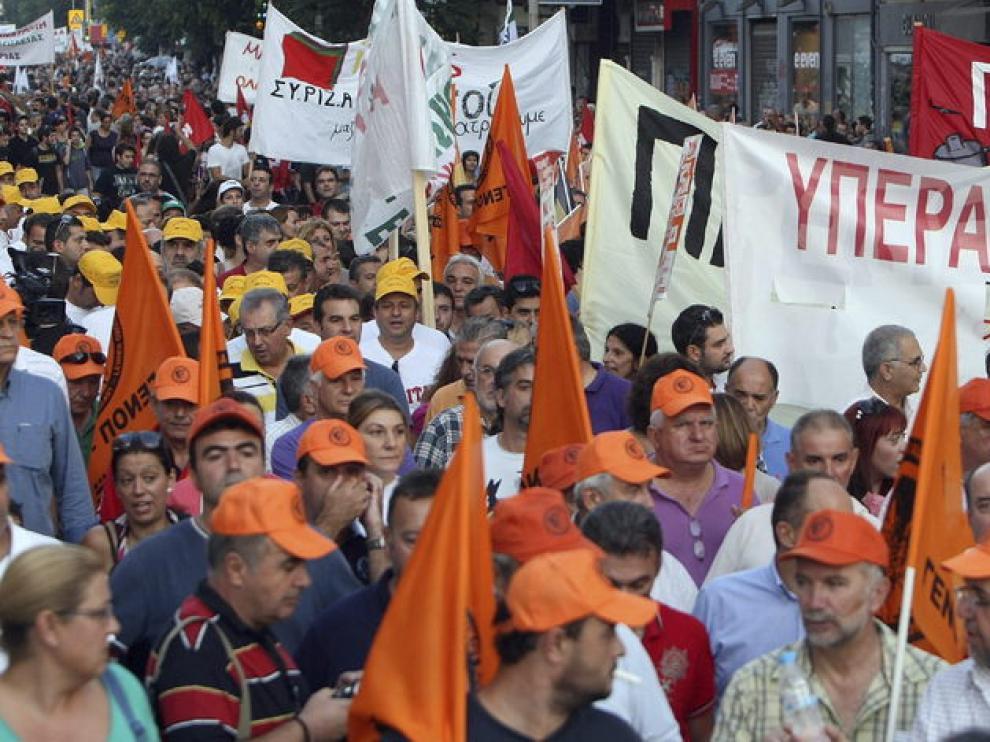 Marca contra los recortes en Salónica