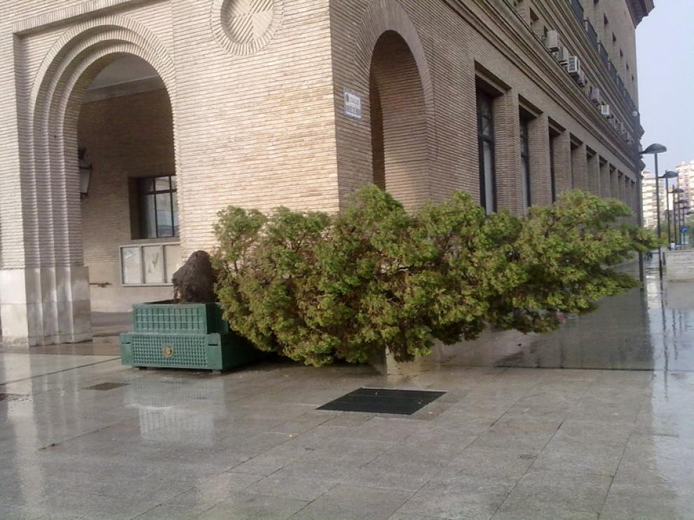Gran tormenta en Zaragoza