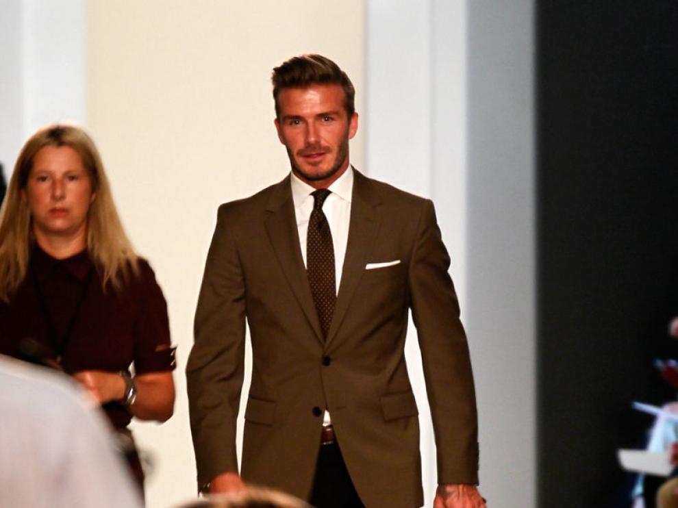 Beckham asiste a la presentación de Victoria.