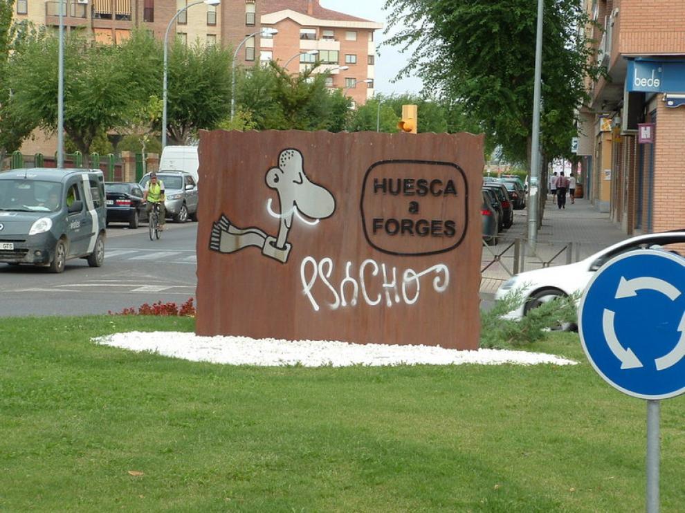 La escultura representa al 'Blasillo', el galardón del Congreso de Periodismo Digital de Huesca.