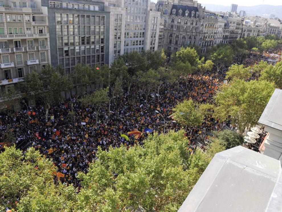 Manifestación en Cataluña a favor de la independencia
