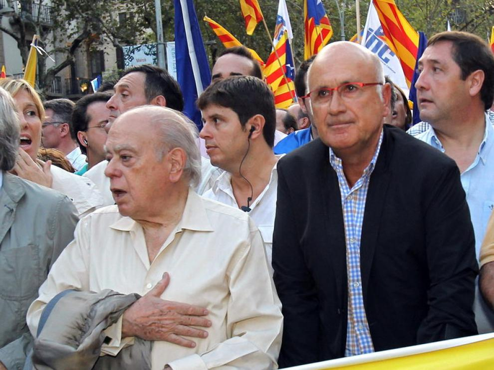 El portavoz de CiU en el Congreso ha acudido este martes a la manifestación de Barcelona.