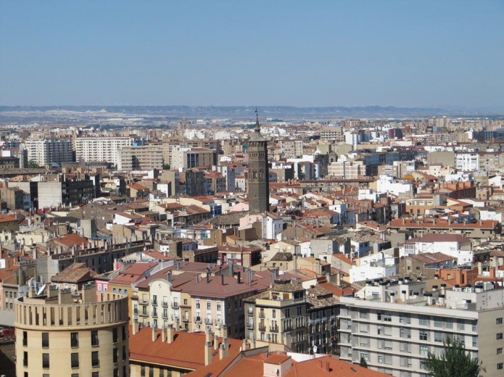 Vista general de Zaragoza.