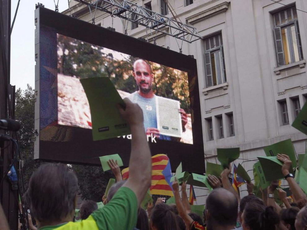 Guardiola apoya la manifestación a favor de la independencia