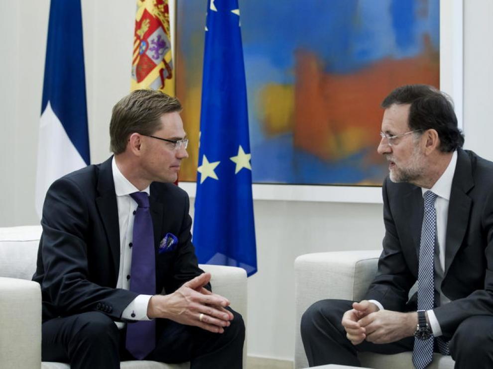 El primer ministro finés junto a Mariano Rajoy